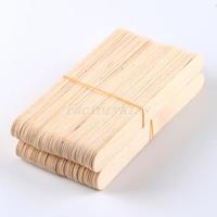 Free Shipping 100 Large Wax Waxing Wood Body Hair Removal Sticks Applicator Spatula [1 4002-238]