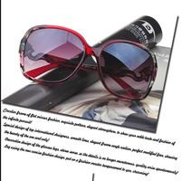 2014 new luxury brand sunglasses women glasses gold metallic gradient sun glasses ladies big box sunglass with fox YJ5085