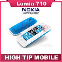 Original unlocked Nokia Lumia 710 Mobile Phone WIFI 3G GPS 5MP 3.7''TouchScreen 8 GB Internal storage refurbished freeshipping