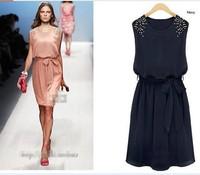 Женское платье New women's spring bohemia dress chiffon one-piece dress full dress summer female