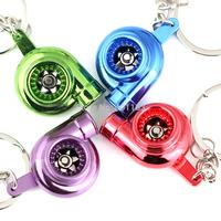 M86120 Creative Spinning Anodized Plated Brilliant Metalliac Color Turbo Turbocharger Keychain Key Chain Ring Keyring Keyfob