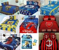 cotton football team cartoon kids children boy girl beautiful twin bedclothes quilt cover set bedding set