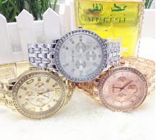 New Luxury Fashion Women dress Rhinestone Analog wristwatches men Casual watch Wholesale jewelry gift Free shipping
