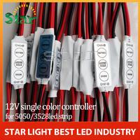 1pcs/lot 12V Mini 3 Keys Single Color LED Controller Brightness Dimmer for led 3528 5050 strip light Free shipping