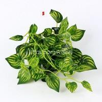 Free Shipping Home Decor Plants Vine Fake Foliage Flowers Artificial Ivy Leaf Garland [2 4003-435]