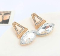 European and american fine retro gem earrings temperament Prom star earrings Weddings Jewelry