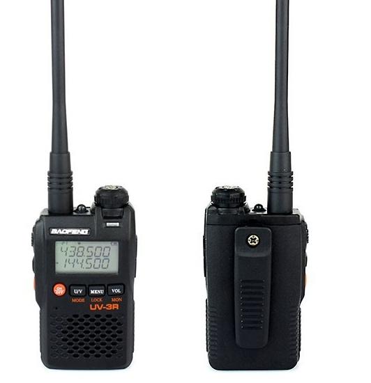 DHL freeshipping+2 pcs/lot baofeng walkie talkie baofeng uv 3r uv3r handheld uhf vhf radio station portable ham radio UV-3R(China (Mainland))
