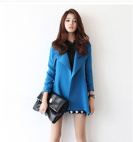 Free shipping 2014 fashion Women's Plus Size Trench Coat For Women  Windbreaker Outerwear L0438
