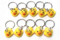 NEW 20 Pcs WOMEN MINI THAI RUBBER DUCK KEYCHAIN KEYRING GIFT FREE SHIPPING