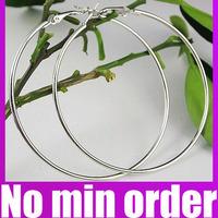 50/60/70/80/90/100mm Gold/Silver Plated Basketball Wives Large Hoop Earrings Big Hoop Earrings - no minimum order