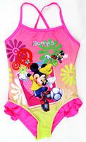 Children's Swimwear Minnie Mouse Girls One Pieces Children's Bathing Suits Kids Swimwear For Girls Size 3/4,5/6,7/8,9/10,11/12
