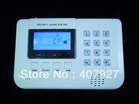 Wireless GSM and PSTN alarm system, LCD display  99 Wireless defense zone and 2 wired zones Model:IP-804N + free shipping