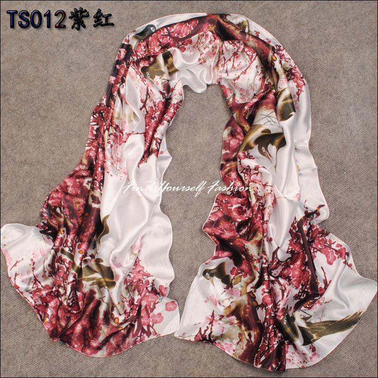 2014 Hot mulheres magras longo parágrafo lenço de seda verão outono e inverno feminino decorativa xaile lenços aplicáveis SF100(China (Mainland))