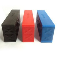 DHL 10pcs/lot New Jambox style mini wireless  bluetooth speaker portable speaker bulit in rechargeable Battery and retail box