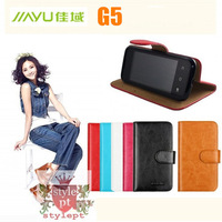 6-color rhinestone Flip protective Leather case for JIAYU G5 Good soft genuine handfeel