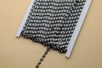 free shipment  SS16 4mm Crystal Rhinestone Banding Single Row black  Setting 10 yard sewing accessoriesrd for Garment