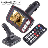 "1.8"" LCD Car MP3 MP4 Player FM Transmitter SD/USB Wireless Transmitter SD MMC Cards and Remote"