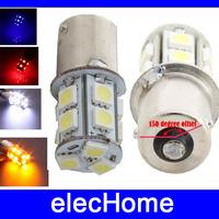 7507 PY21W BAU15s 1156 LED Bulb Car Motor Backup Signal Blinker Tail Light LED Bulbs Light Lamp 13 leds 5050 smd DC 12V