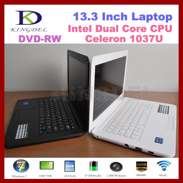 Cheap 13 inch Laptop notebook computer Intel Celeron 1037U Dual core1.8Ghz,4GB RAM+500GB HDD,DVD Burner, WIFI, Webcam ,windows 7(Hong Kong)