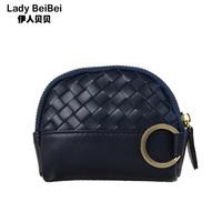 2014 new fashion Woman plaid women's zipper coin purse card holder wallet card case