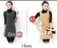 2014 spring one-piece dress women's sleeveless tank dress plus size woolen winter basic one-piece dress