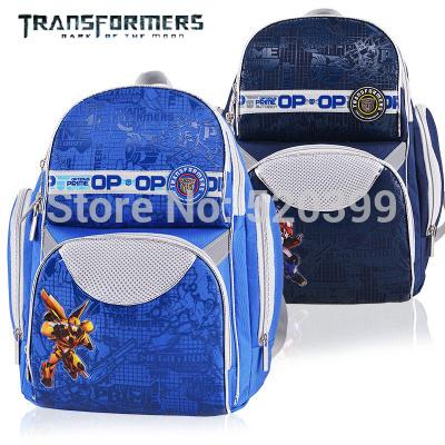 Transformers orthopedic primary children/kids school bag books/shoulder backpack for boys class/grade 1-3(China (Mainland))