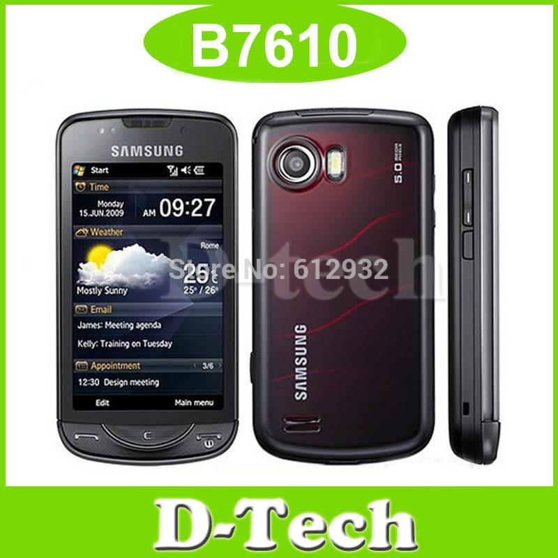 B7610 Original Samsung B7610 Mobile Phone 3G WIFI GPS Windows mobile phone refurbished Singapore Post Free Shipping(China (Mainland))