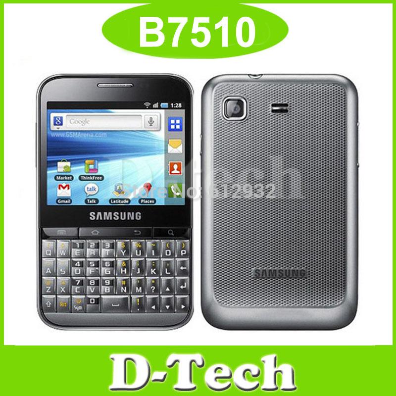 B7510 Original Samsung Galaxy Pro B7510 mobile phone Andriod 3G WIFI GPS 3.2MP refurbished Singapore Post Free Shipping(China (Mainland))
