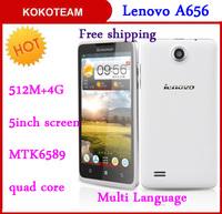 Ideaphone Original Lenovo A656 smartphone MTK6582 quad core 4.7''  4G ROM lenovo mobilephone Not lenovo K900 P780