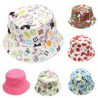 2014 Summer Unisex Kid Bucket hat Photography Hat Kids Sun Hat Floral CapsTravel Necessity for Boys Girls Children Drop Shipping
