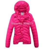 Women slim down coat lady down jacket with hood cute cap outerwear women snow wear