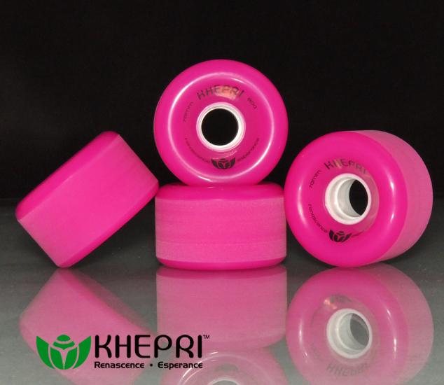 KHEPRI Professional slide longboard wheels 70X42 mm 78A 80A 83A High quality PU casting long board wheel(China (Mainland))