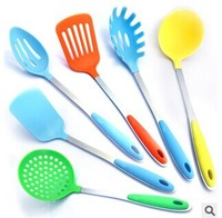 New design 4pcs nylon kitchenware. stainless steel kitchen tools , silicone cooking tool sets, kitchen utensil, Free shipping