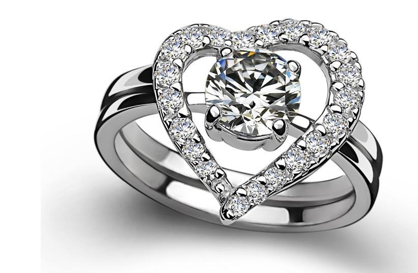 bridal sets heart shaped diamond bridal sets