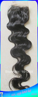 Free Shipping 100% Brazilian Human Hair Lace Top Closures ,Size 4x4,Tangle,Shedding Free