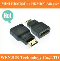 Brand New 20pcs/lot MINI HDMI(M) to HDMI(F) adapter free shipping -- MINI HDMI2HDMI adaptor
