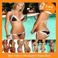 Free shipping 2pcs/lot,beauty of bathing swimsuit,fringe bikini top,bikini push up,two piece bandage dress,women swimwear