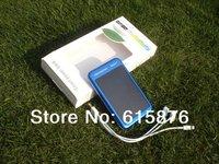 New solar move power backup power 5000mah battery  portable1.3watt 260mA  solar mobile charger hard Teflon front  super thin