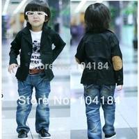 2014 Handsome boys jacket blazer for boys all-match spring kid's outerwear boys fashion suit boys black coat