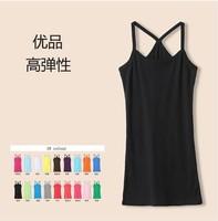 2014 Camisole Tops Skirts Spring And Summer Female Lengthen Slim Hip Y Vest Cotton Full Dress Design Small Suspender Skirt Basic
