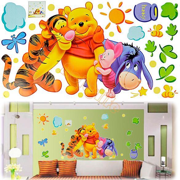 New Good Quality DIY Fashion Cheap Cartoon Animal PVC Wall Stickers Home Decals Kids Room Decor House Sticker #005 6351(China (Mainland))
