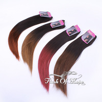 "Black Pearl Ombre Brazilian Remy Human Hair Extensions Two Tone Colors Straight Human Hair Weave Weft 3Pcs/lot 100g/pc 12""-18"""