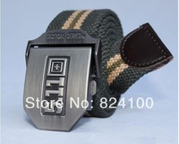 Hot sell  Men Brand Canvas Belts High Quality Male Strap Military Belt Men's tTicken Canvas Belt Automatic 511 Buckle
