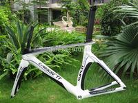 New Arrival !! Free Shipping !! New Design Aero Carbon TT Frame White/Black