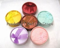US Free Shipping! Mixed Color Round Cardboard Jewelry Boxes Mother's Day Gift Box 8.5 cm wide 8.5 cm long 3.5 cm high