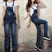 Rompers womens jumpsuit overalls bodysuit slim denim jumpsuit sleeveless spring 2014 women macacao plus size ladies rompers