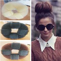 Free shipping New Fashion Donut Head Sponge Self- stick Hair Maker Head Bud Hair Styling Tools Accessories