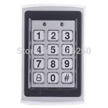 Caso RFID Tarjeta metal teclado 125kHz Sistema de control de tarjetas de proximidad cerradura de la entrada de la puerta de acceso impermeable Wiegand de entrada(China (Mainland))