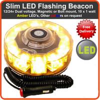 NEW 12V 10W Car Auto LED BEACON Emergency Recovery Flashing Warning Strobe Lights Lightbar Amber Free Shipping