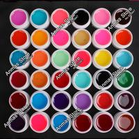 Pro 36 PCS Glass Mix Color UV Builder Gel Acrylic Nail Art Set for Nail Art Tip